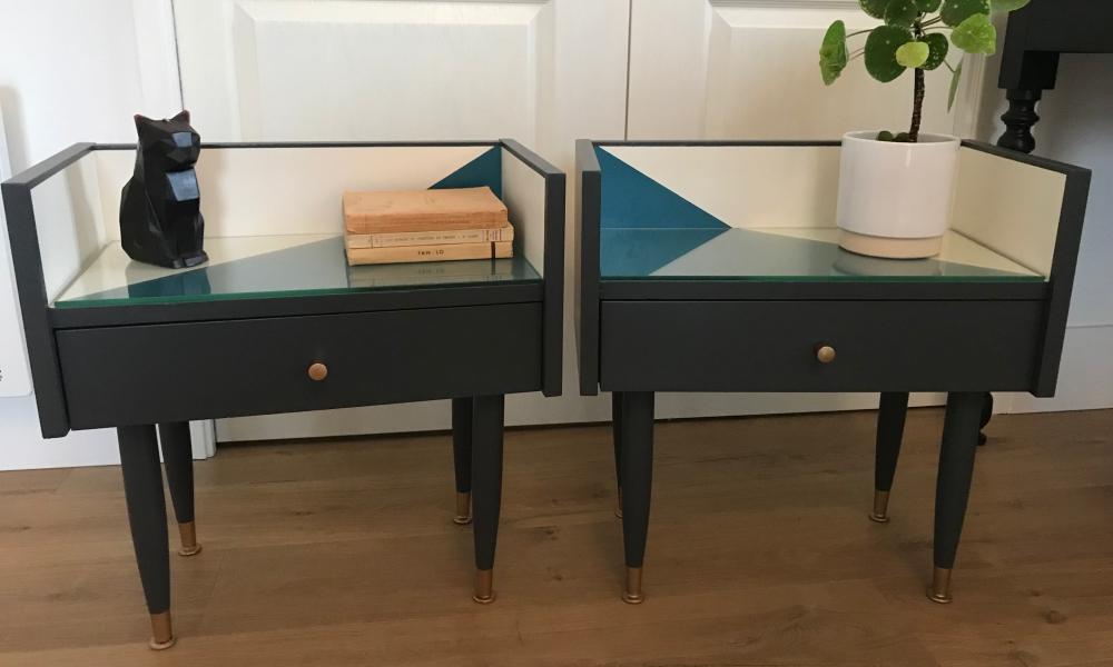 Paire de chevets années 60 relookés - KindofWood meuble