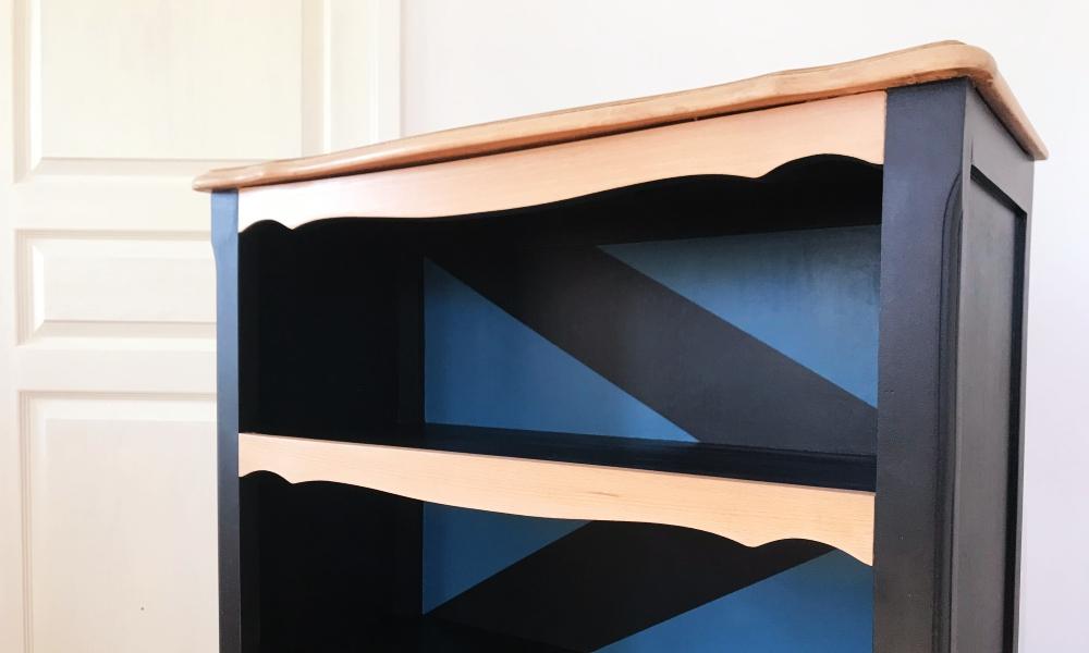 Bibus ancien relooké, bibliothèque bois - KindofWood meuble