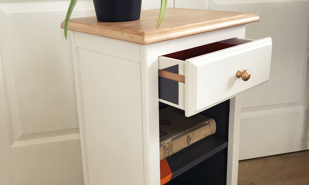 Chevet 1 tiroir pop chic - KindofWood meubles relooké, upcycling