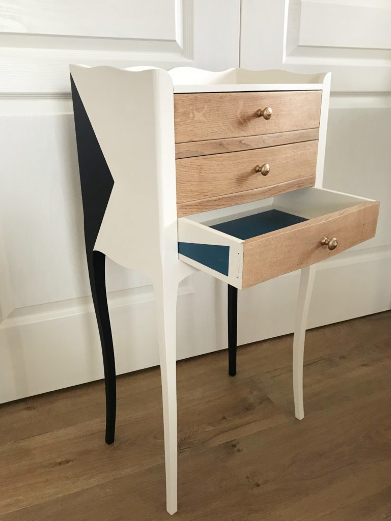 Chevet 3 tiroirs design élégant - KindofWood meubles relooké, upcycling